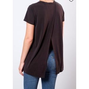 Lush open back shirt